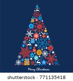 christmas background with... | Shutterstock .eps vector #771135418