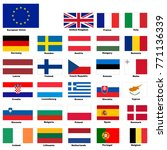 european union  official flags... | Shutterstock .eps vector #771136339