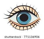cartoon image of eye. an...