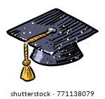 cartoon image of graduation cap ...
