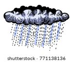 cartoon image of rain icon....
