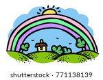 cartoon image of rainbow icon....