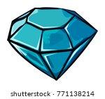 cartoon image of diamond icon....