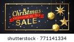 christmas sale banner template... | Shutterstock .eps vector #771141334