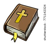 cartoon image of bible icon....