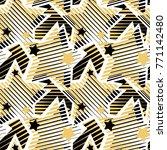 stars print  seamless hand... | Shutterstock .eps vector #771142480