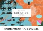 minimal universal banner...   Shutterstock .eps vector #771142636
