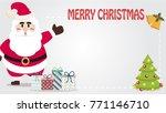 christmas card vector. santa... | Shutterstock .eps vector #771146710
