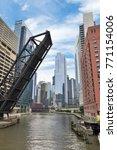 northern riverwalk on north... | Shutterstock . vector #771154006
