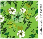 vector seamless pattern flowers ... | Shutterstock .eps vector #771154903