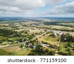 aerial of the small rural town... | Shutterstock . vector #771159100