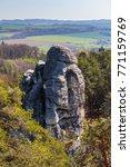 skyline of sandstone rocks like ... | Shutterstock . vector #771159769