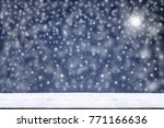 new year frame.blue christmas... | Shutterstock . vector #771166636