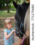 cute little caucasian girl... | Shutterstock . vector #771170680
