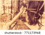 cute little caucasian boy...   Shutterstock . vector #771173968