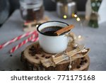 festive time  christmas and new ... | Shutterstock . vector #771175168