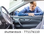 happy mature man smiling... | Shutterstock . vector #771176110