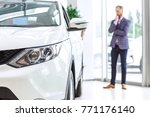selective focus on a car lights ... | Shutterstock . vector #771176140