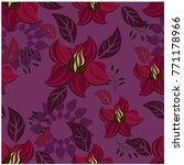 vector seamless pattern flowers ... | Shutterstock .eps vector #771178966