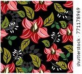 vector seamless pattern flowers ... | Shutterstock .eps vector #771178969