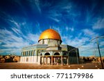 the dome of the rock  ...   Shutterstock . vector #771179986