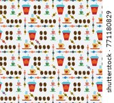 seamless pattern with coffee... | Shutterstock .eps vector #771180829