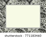 ornamental antique frame with... | Shutterstock .eps vector #771183460