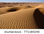 contours of the dunes of wahiba ... | Shutterstock . vector #771184240