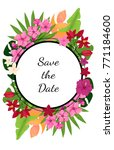save the date card template... | Shutterstock .eps vector #771184600