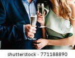 the bride and groom holds a... | Shutterstock . vector #771188890