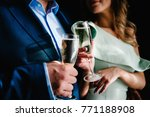 the bride and groom holds a... | Shutterstock . vector #771188908