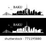 baku skyline   azerbaijan  ... | Shutterstock .eps vector #771195880