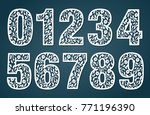 laser cut template. set of... | Shutterstock .eps vector #771196390