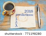 2018 predictions list on a... | Shutterstock . vector #771198280