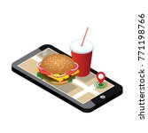 isometric city. fast food... | Shutterstock .eps vector #771198766