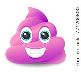 pink pile of poo emoji icon... | Shutterstock .eps vector #771200800