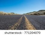 extreme low angle of road with... | Shutterstock . vector #771204070