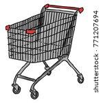 cartoon image of cart. shopping ...