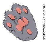 cartoon image of animal paw.... | Shutterstock . vector #771207700