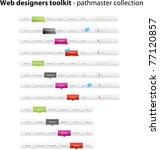 navigation menus | Shutterstock .eps vector #77120857
