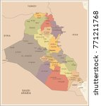 iraq   vintage map and flag  ... | Shutterstock .eps vector #771211768