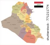 iraq   vintage map and flag  ... | Shutterstock .eps vector #771211774