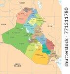 iraq map   high detailed vector ... | Shutterstock .eps vector #771211780