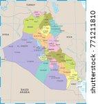 iraq map   high detailed vector ... | Shutterstock .eps vector #771211810