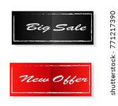 big sale and new offer banner... | Shutterstock .eps vector #771217390