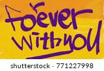 forever with you | Shutterstock . vector #771227998