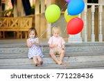little boy and girl having fun...   Shutterstock . vector #771228436