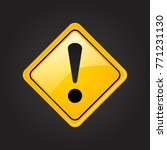 yellow warning dangerous... | Shutterstock .eps vector #771231130