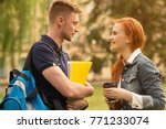 shot of a young loving high... | Shutterstock . vector #771233074