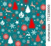 seamless christmas background... | Shutterstock .eps vector #771238000